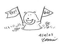 Cheering groundhog