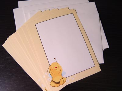 Baby shower notecards with envelopes