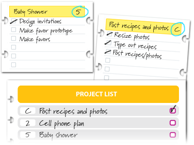 My GTD workflow using project forms