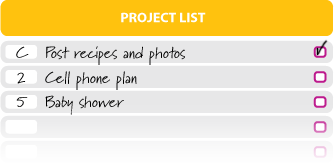 GTD Project List sample use