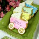 Baby carriage cookies.
