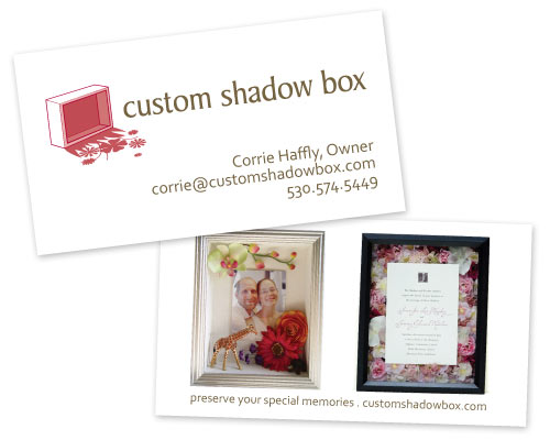 Custom shadow box business card design