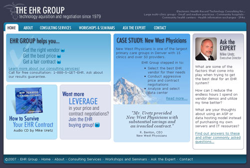 EHR Group home page