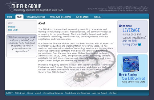 EHR Group about page